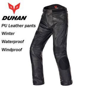 VETEMENT BAS DUHAN Pantalon moto en cuir PU pour homme