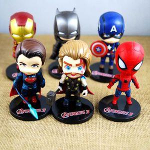 TABLE JOUET D'ACTIVITÉ 6Pcs / set Avenger Mini Figurines Batman Iron Man