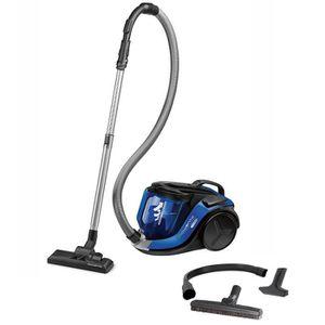 ASPIRATEUR TRAINEAU Rowenta - aspirateur sans sac 75db noir-bleu - ro6