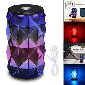ENCEINTE NOMADE Enceinte bluetooth portable 10M Haut-parleur LED 7