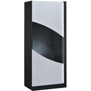 VITRINE - ARGENTIER Vitrine 1 porte à LEDs - ECLYPSE - L 70 x l 47 x H