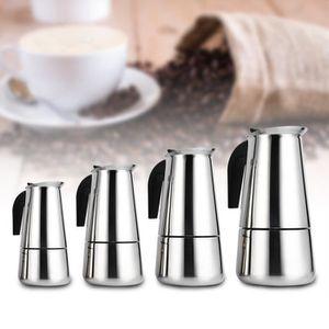 COMBINÉ EXPRESSO CAFETIÈRE Moka Espresso en acier inoxydable Pot Pot moderne