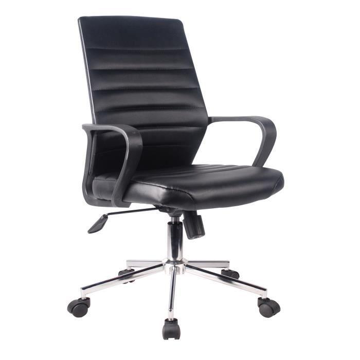 CHAISE EXECUTIVE Chaise de bureau Simili noir - L 59 x P