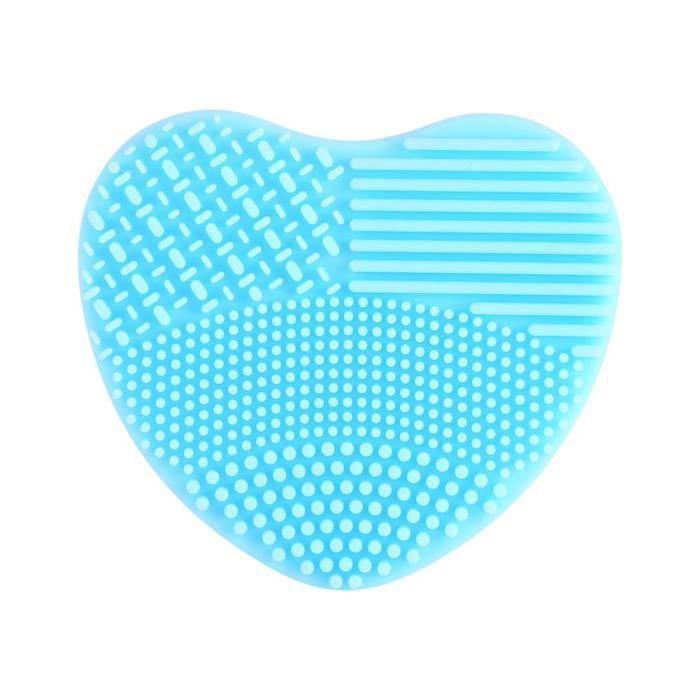 Pinceau de maquillage nettoyeur brosse à laver épurateur conseil la silice cosmétique pour lavage Scrubber conception du cœur