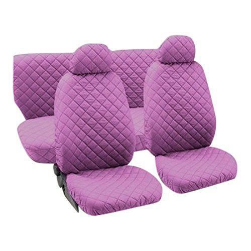 Lupex Shop trap_Rs Housses de siège auto universelles en coton matelassé Rose - trap_Ro