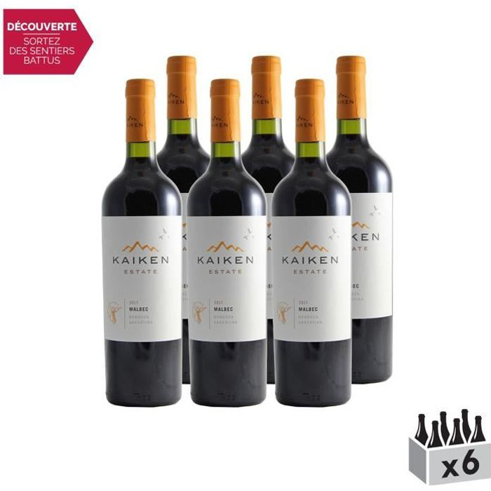 Argentine Mendoza Malbec Reserva Rouge 2017 - Lot de 6x75cl - Kaiken - Vin . Rouge - Origine Argentine - Cépage Malbec
