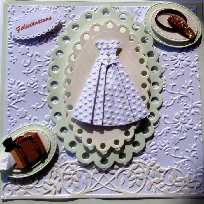 carte porte billet mariage robe papier alliances dorees valise
