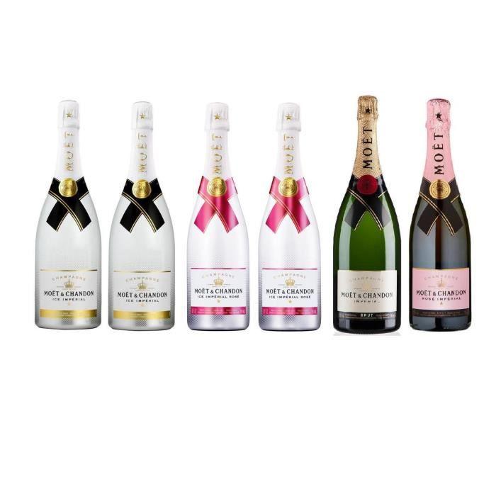 Lot découverte 6 Champagnes Moët & Chandon