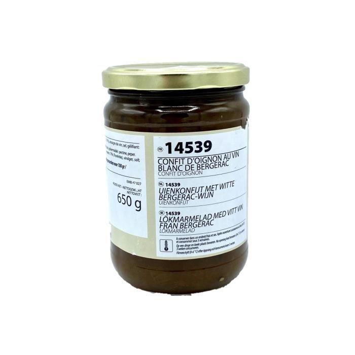 Confit oignon au vin blanc de Bergerac - Maison des Gourmets - pot 650g