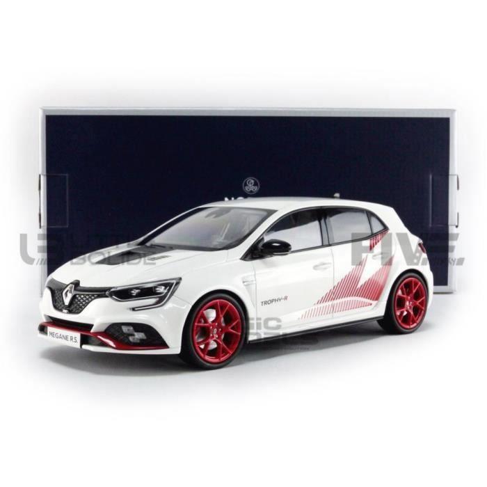 Voiture Miniature de Collection - NOREV 1/18 - RENAULT Megane IV RS Trophy R - 2019 - White / Red - 185239