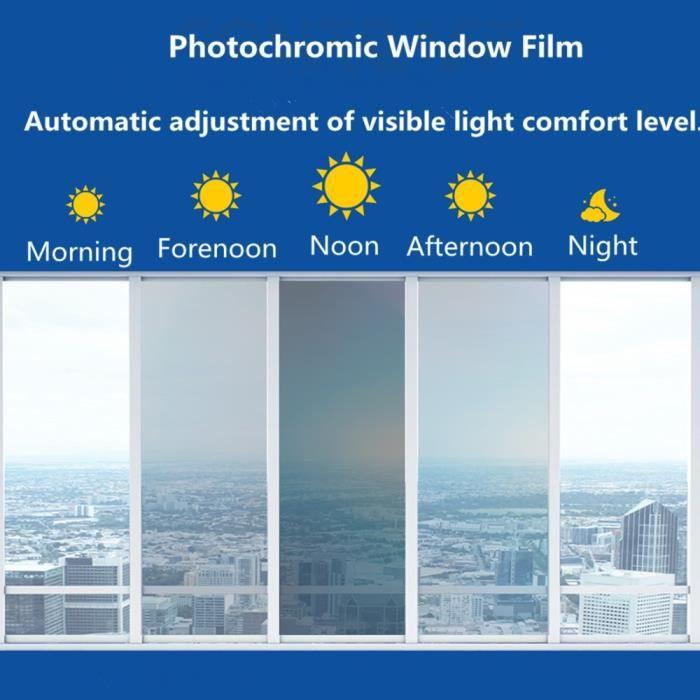 SUNICE-Film photochromique vitres de voiture - Teinte de vitre de voiture VLT 100 ~ 69% bleu à noir, lunett - Modèle: -