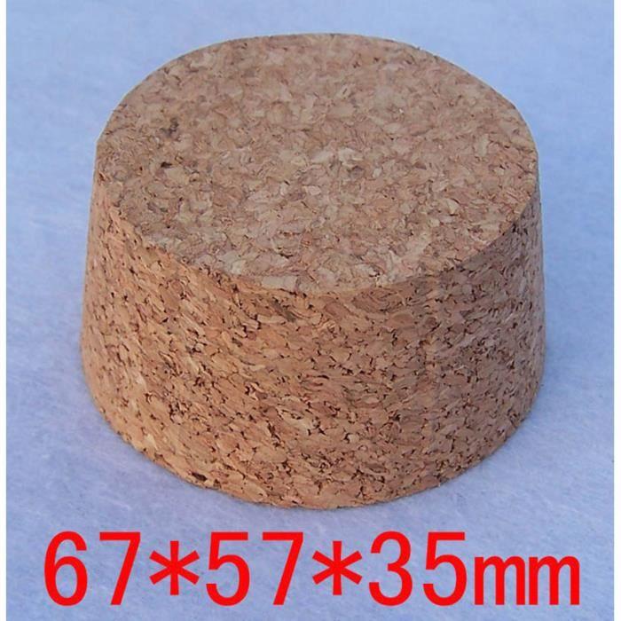 67x57x35 -Bouchon de pot de vin en verre 50 100mm, 3 pièces, bouteilles de bière, conteneur de Pudding en liège, couvercle en bois,