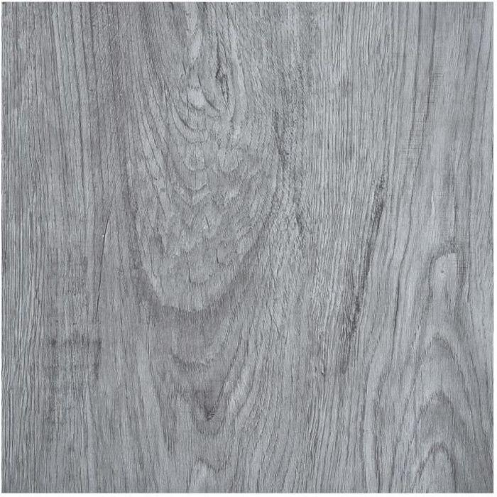 Planches de plancher autoadhésives 5,11 m² PVC Gris clair -HB065