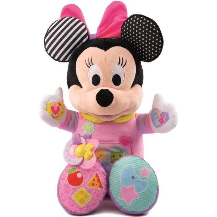 CLEMENTONI Disney Baby - Ma poupée à cajoler Minnie - Jeu d'éveil