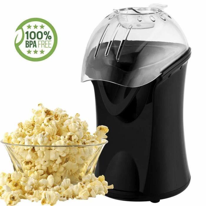 Machine à Pop-corn Électrique 1200W Modèle BH9801 - Air Chaud -Popcorn en 3 Minutes, EU Prise, Noir