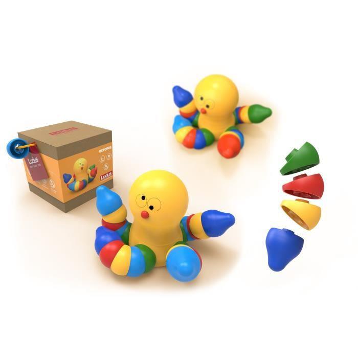LUDUS- Octopus - Jeux assemblage en bois - Mixte - A partir de 3 ans