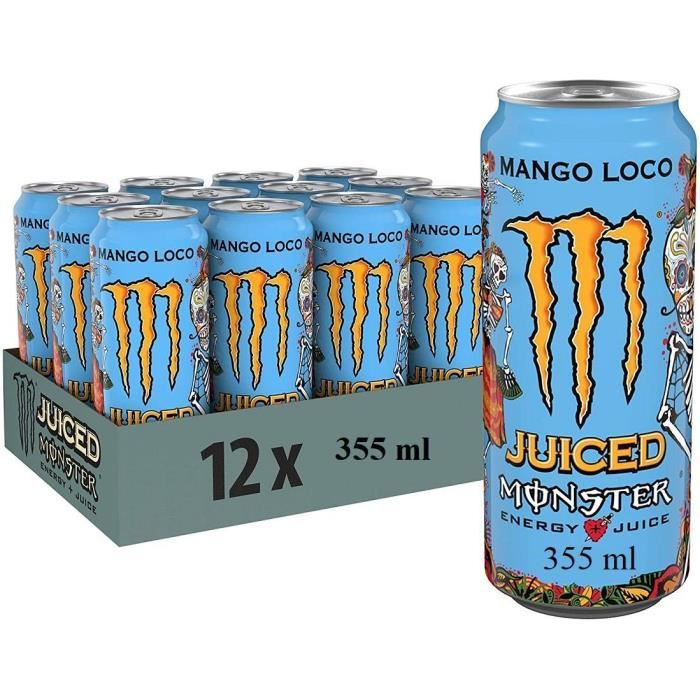 MONSTER MANGO LOCO 355 CL - 12 CANETTES