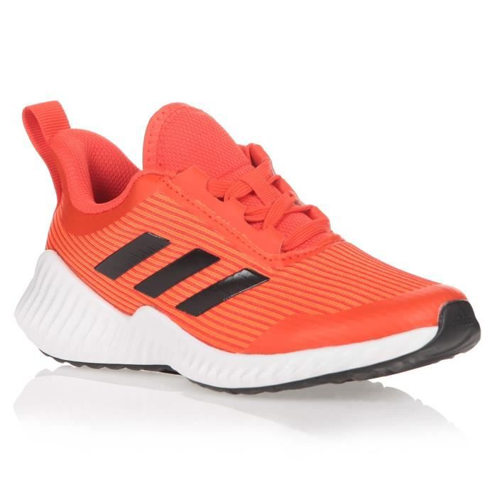 ADIDAS Baskets Fortarun K - Enfant - Orange et blanc
