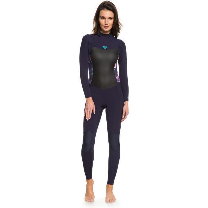 Combinaison de surf manches longues 3-2mm Femme Roxy Syncro Series Back Zip GBS - 3-2mm Bleu Ribbon