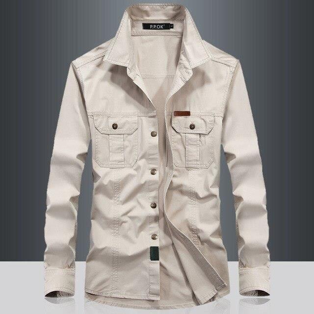 White Ashzencart Chemise Militaire à Manches Longues Pour Hommes, Vêtement Tactique Militaire à Séchage Rapide, De Camping, à C