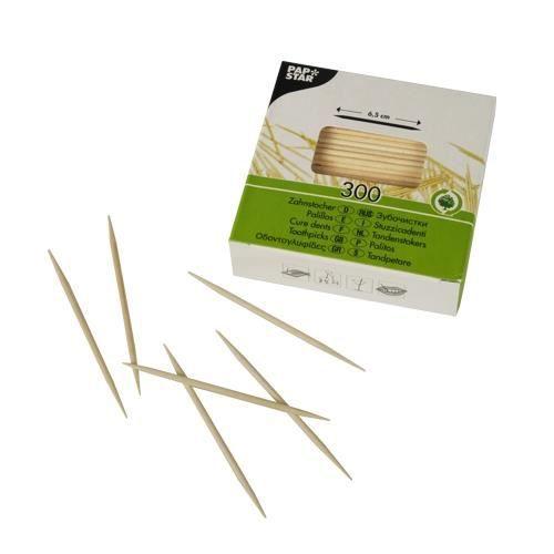 Cure dents, bois rond 6,5 cm
