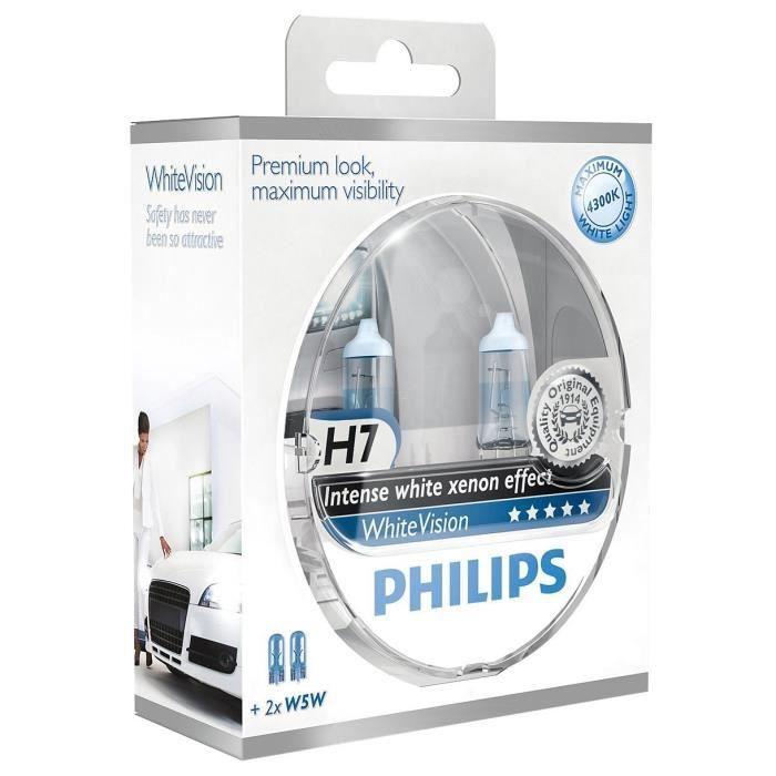 Philips 12972WHVSM WhiteVision Phares Halogen H7/W5W, 12 V