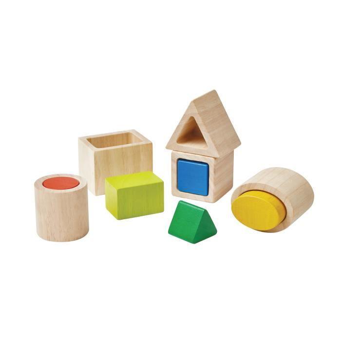 PLAN TOYS Formes géométriques à imbriquer méthode Montessori
