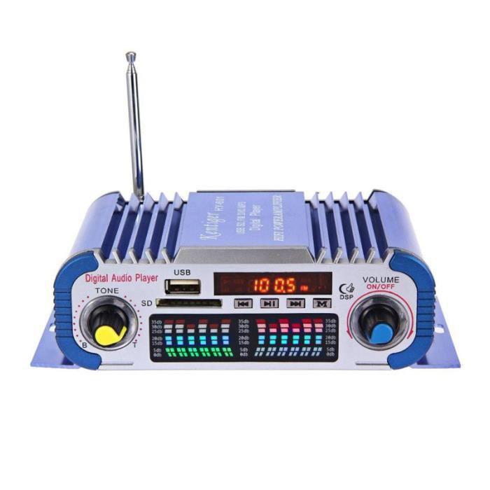 1 pc LED lecteur Audio télécommande numérique Mini amplificateur voiture stéréo Radio pour véhicule automatique CHAINE HI-FI