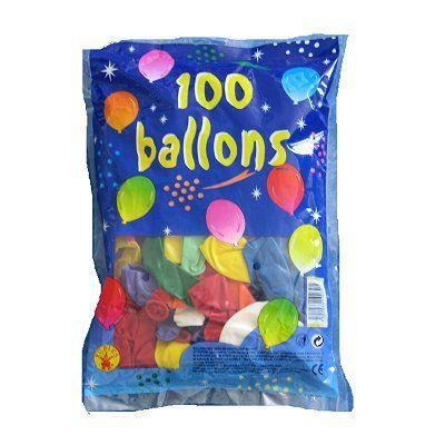 Ballons de baudruche - Sac de 100 ballons