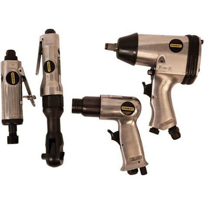 Kit Pneumatique 34 Pieces, Clés à cliquet, Clé à chocs Air, pneumatique marteau à piquer, Ponceuse pneumatique