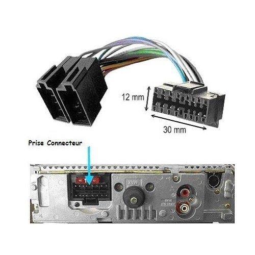Câble adaptateur ISO autoradio SONY CDX4100 CDX4100RDS CDX4150 CDX4150RDS CDX4150RFP