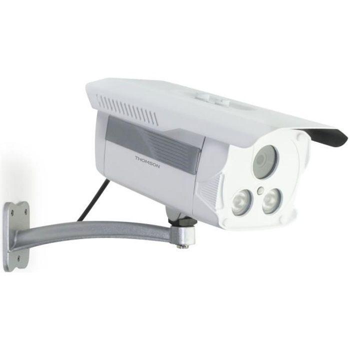 THOMSON Caméra de surveillance IP HD extérieur avec détection de mouvement