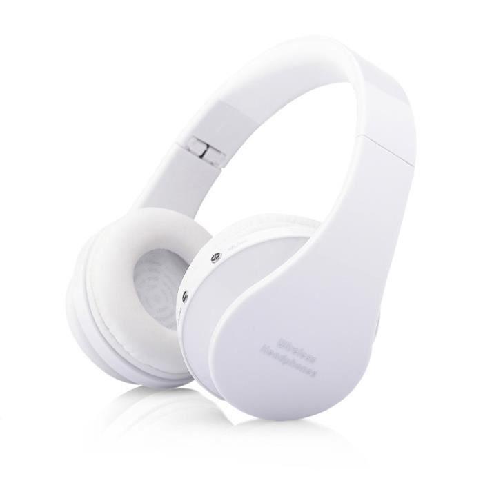 OREILLETTE BLUETOOTH Oreillette Bluetooth sans fil stéréo casque pliabl