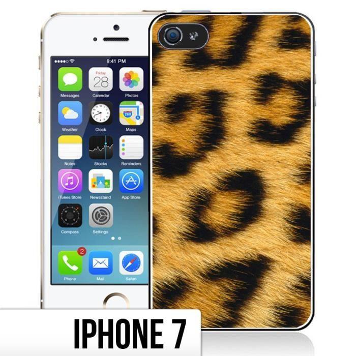 Coque iPhone 7 Fourrure - Leopard