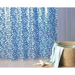 gedy rideau douche mosaico 180x200 bleu ciel achat. Black Bedroom Furniture Sets. Home Design Ideas