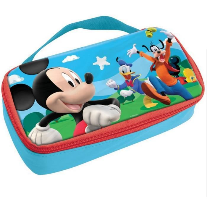 Sac go ter mickey isotherme bo te pochette sacoche disney enfant violet achat vente sac - Boite a gouter personnalisee ...