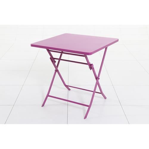 Table pliante carr e greensboro 2 places prune achat for Table carree 8 places