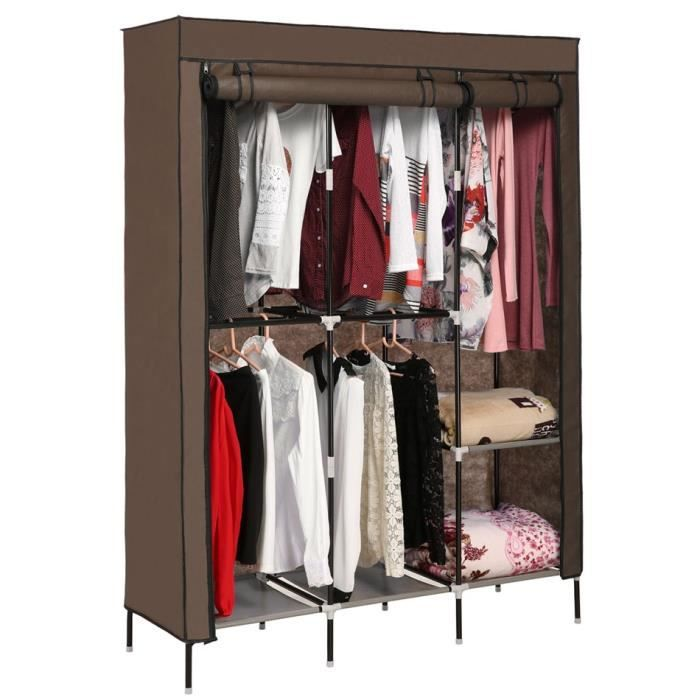 armoire penderie placard de rangement v tements tige double organisateur achat vente. Black Bedroom Furniture Sets. Home Design Ideas