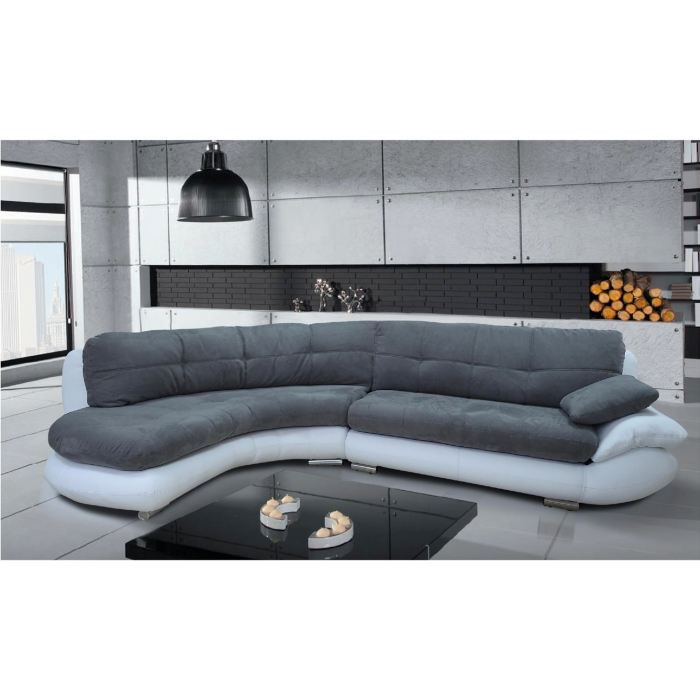 canap d 39 angle microfibre grise s n gal gauche achat vente canap sofa divan soldes d. Black Bedroom Furniture Sets. Home Design Ideas