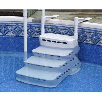 escalier aquarius pvc achat vente echelle de piscine. Black Bedroom Furniture Sets. Home Design Ideas