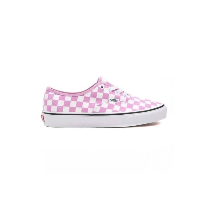 Baskets Vans Authentic Checkerboard Rose Femme