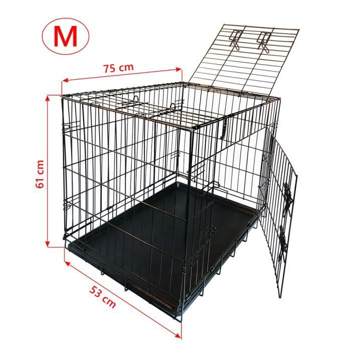 nemaxx cage pour chien pliable et transportable taille m achat vente caisse de transport. Black Bedroom Furniture Sets. Home Design Ideas