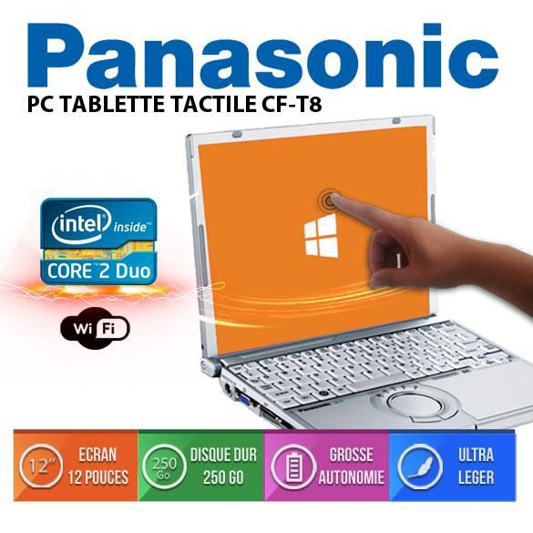 pc ultrabook tactile panasonic core 2duo pas cher prix pas cher cdiscount. Black Bedroom Furniture Sets. Home Design Ideas