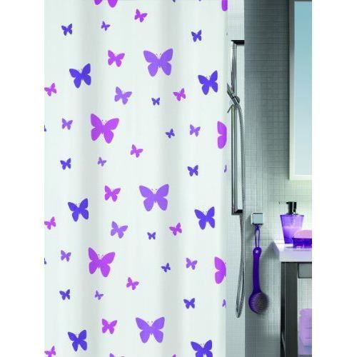 spirella rideau de douche fly purple m achat vente rideau de douche textile 100. Black Bedroom Furniture Sets. Home Design Ideas