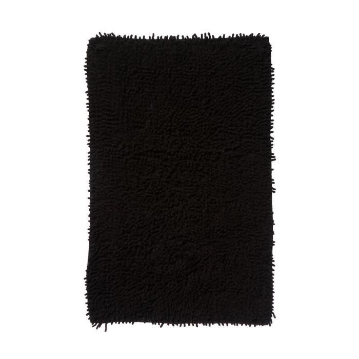 tapis de salle de bain noir noir achat vente tapis. Black Bedroom Furniture Sets. Home Design Ideas