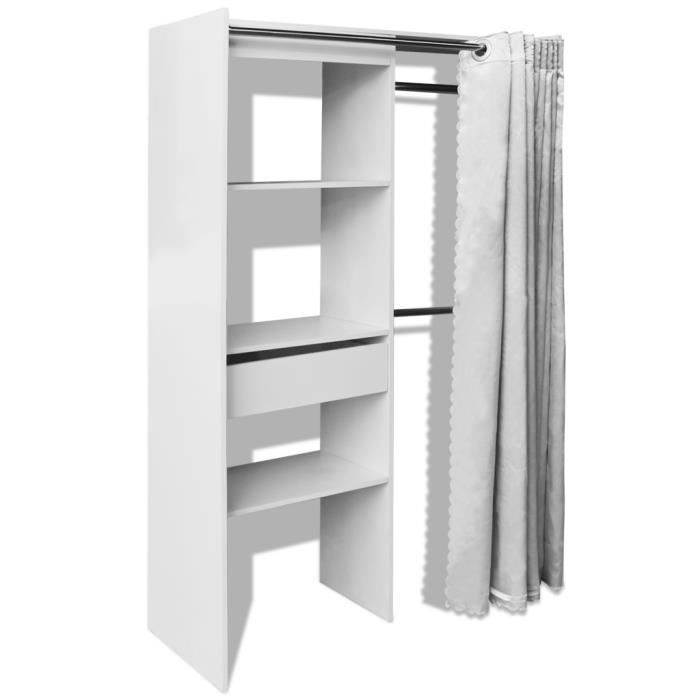 penderie avec rideau awesome dressing complet extensible penderie tagres coloris blanc ethan. Black Bedroom Furniture Sets. Home Design Ideas