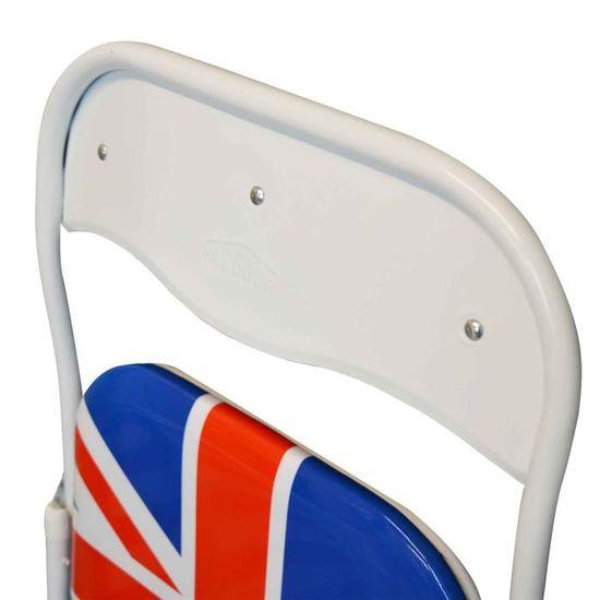 Union Jack London rembourrée Chaise pliante Achat Vente