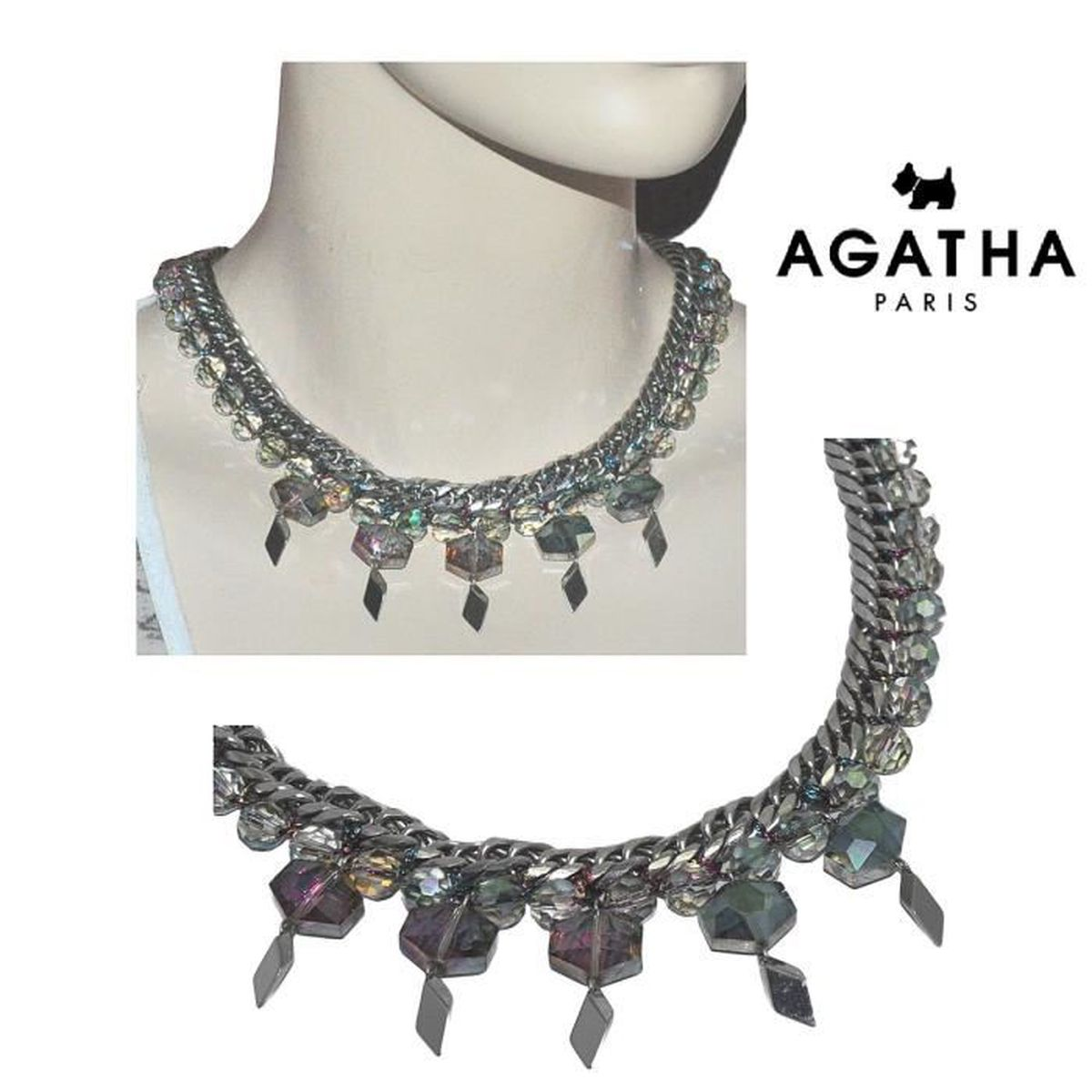 collier grosse maille femme agatha