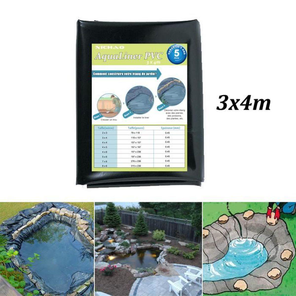 Comment Faire Un Etang Avec Une Bache 4m x 3m bâche bassin anti-infiltration en pvc pour