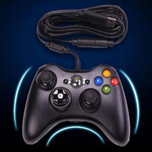 MANETTE JEUX VIDÉO Pour Microsoft XBox 360 Controller Noir Manette fi